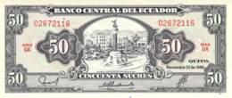 50 Cincuenta Sucres Banknote Ecuador - Ecuador