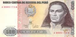 500 Quinientos Intis Banknote Peru - Pérou