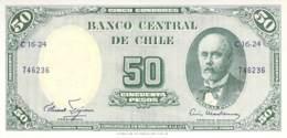 50 Cincuenta Pesos Banknote Chile - Chili