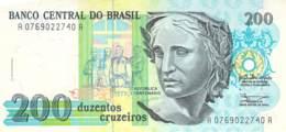 200 Duzentos Cruzeiros Banknote Brasilien - Brésil