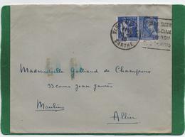 """1940-lettre De SABLE SUR SARTHE-72 Pour MOULINS--Allier Daguin""""Piscine-Jardin-Tennis""""- - 1921-1960: Modern Period"""