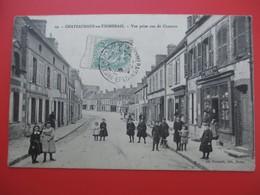 CHATEAUNEUF En THIMERAIS - Vue Prise Rue De Chartres - Belle Animation Devanture Commerce BINIER - Châteauneuf