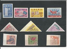 LIBERIA Scott 338-340 C70, 341-346 (10) ** Et O Non Perforé 1952-3 - Liberia