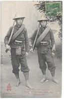 Cpa...Viet-Nam...Indo-Chine...Tonkin...Lao-Kay..tirailleurs Tonkinois..Linhs Thos..(montagnards)..1907.. - Viêt-Nam