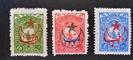 SURCHARGES 1916 - TIMBRES-POSTE 1906 - NEUFS * - YT 385/87 - 1858-1921 Empire Ottoman