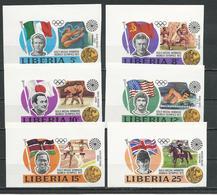 LIBERIA Scott 616-621 (6) ** Non Perforé 1973 - Liberia
