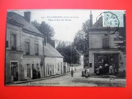 VILLEBOURG Place Et Rue Des Ecoles - Animation Devanture Commerce - Voyagée En 1924 - Other Municipalities