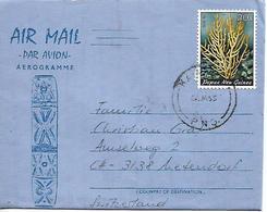 PAPUA NEW GUINEA 1955 Aerogramme Sent To Suisse 1 Stamp AEROGRAMME USED - Papua New Guinea