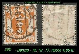 Mi. Nr. 73 In Gebraucht - Geprüft -DANZIG 5 B - Danzig
