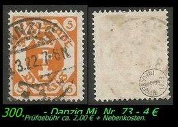 Mi. Nr. 73 In Gebraucht - Geprüft -DANZIG 1 - Danzig