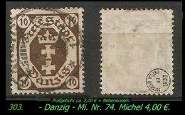 Mi. Nr. 74 In Gebraucht - Geprüft -DANZIG 1 - Danzig