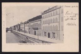 1904 - FIRENZE - Lungarno Corsini Colla Casa Ove Morì Vittorio Alfieri - C_830 - Firenze