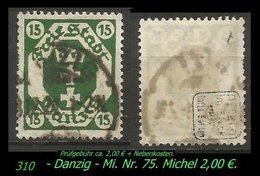 Mi. Nr. 75 In Gebraucht - Geprüft - - Danzig