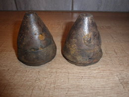 2 Têtes De Minen D'exercice Allemandes Ww1 - 1914-18