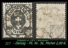 Mi. Nr. 74 In Gebraucht - Geprüft - - Danzig