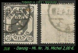 Mi. Nr. 74 In Gebraucht - Geprüft - DANZIG 5 K - Danzig