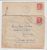 """CHARENTE INFre: """" ROCHEFORT S MER GARE & ENTREPOT """" CàD A4 & A6 / 2 LSC De 1927 & 50 B/TB - Marcophilie (Lettres)"""
