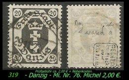 Mi. Nr. 74 In Gebraucht - Geprüft - SELTENER STEMPEL - Danzig