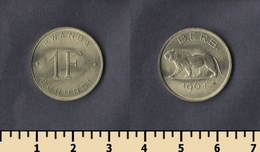 Rwanda-Burundi 1 Franc 1961 - Rwanda