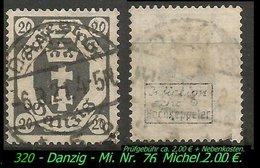 Mi. Nr. 74 In Gebraucht - Geprüft - DANZIG 5 B - Danzig
