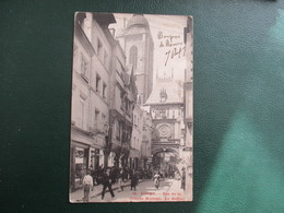 CPA 76 ROUEN RUE DE LA GRANDE HORLOGE LE BEFFROI ANIMEE - Rouen