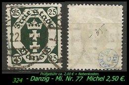 Mi. Nr. 77 In Gebraucht - Geprüft - DANZIG 1 - Danzig