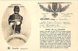 BRUXELLES - Manneken-Pis - Citation à L'Ordre Du Bataillon - N'a Pas Circulé - Thill, Série 1, N° 115 - Monuments, édifices
