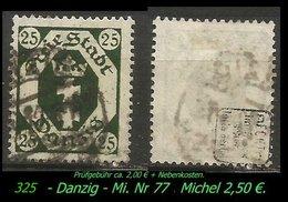 Mi. Nr. 77 In Gebraucht - Geprüft - - Danzig
