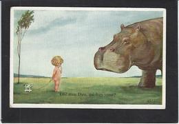 CPA Hippopotame Non Circulé - Hippopotamuses