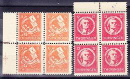 ALLEMAGNE  Z Soviet THURINGEN Mi 96/7,  Bloc De 4, ** MNH, Reimpression, Reprint    (7B904) - Zone Soviétique
