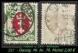 Mi. Nr. 79 In Gebraucht - Geprüft - - Danzig