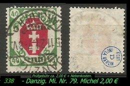 Mi. Nr. 79 In Gebraucht - Geprüft - LANGFUHR C - Danzig
