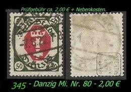 Mi. Nr. 80 In Gebraucht - Geprüft - - Danzig