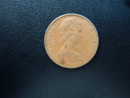 NOUVELLE ZÉLANDE : 2 CENTS   1972   KM 32.1    SUP 55 - Nouvelle-Zélande