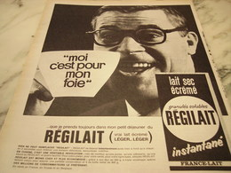 ANCIENNE   PUBLICITE MOI C EST POUR MON FOIE REGILAIT 1965 - Affiches