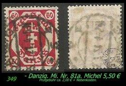Mi. Nr. 81a In Gebraucht - Geprüft - DANZIG 5 K - Danzig