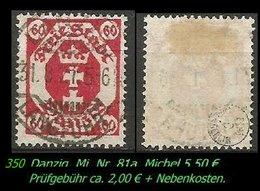 Mi. Nr. 81a In Gebraucht - Geprüft - LANGFUHR - Danzig