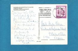 FLAMME THEMES,BUS,AVION SALZBURG IHR REISEZIEL OBL SALZBURG SUR CPSM - Poststempel - Freistempel