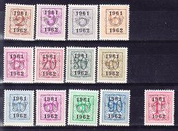 BELGIQUE 1961-62 COB PREO SERIE 54 ** MNH, PRE 724, Defauts De Dentelure ( 7B520) - Tipo 1951-80 (Cifra Su Leone)