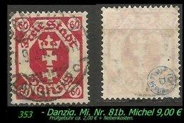 Mi. Nr. 81 B In Gebraucht - Geprüft - - Danzig