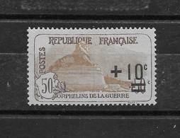 Orphelins De La Guerre N° 167 ** TTBE - Cote Y&T 2019 De 65 € - France
