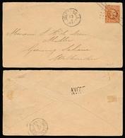 DUTCH INDIES. 1885. Soerakarta - Weltevreden. 10c Ovptd Stat Env + Stline Pmk Reverse. - Indes Néerlandaises