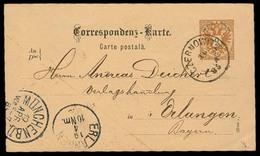AUSTRIA. 1885. TRANSYLVANIA. Czernowitz - Bayern. 2 Kr Stat Card. VF. - Austria
