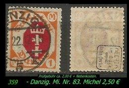 Mi. Nr. 83 In Gebraucht - Geprüft - DANZIG 5 K - Danzig