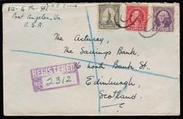 USA. 1935. Port Angeles / Wash - Scotland. Registr Fkd Env. Nice. - United States