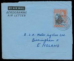 BC - Gold Coast. 1958. Lawba - UK. Ovptd Airletter. Fine Used. - Unclassified