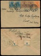 GERMANY. 1921. Lubeck - INDIA / Surat. Multifkd Germania Env. Colorful Item. F. - Germany