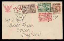 SIAM. 1926. Renong. Air Stat Card + Adtls. - Siam