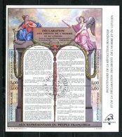 BF 11 Déclaration Des Droits De L'Homme Avec Cad - Avec Sa Gomme - Blocs & Feuillets