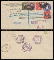 USA. 1937. Boston - Davenport / UK. Registr AR Stat Env + Adtls. VF. - United States